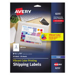 "Avery Matte White Ink Jet Labels, 8 1/2""x11"", 20 per Pack"