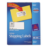 "Avery Shipping Labels with TrueBlock Technology, 2""x4"", White, 500 per Pack"