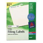 Avery Permanent Self Adhesive Laser/Ink Jet File Folder Labels, 750/Pack, White