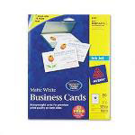 Avery Ink Jet Business Cards, 2 x 3 1/2, White, 10 Cards/Sheet, 250 Cards/ Pack