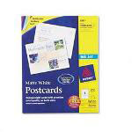 Avery Ink Jet Post Cards, 4 1/4 x 5 1/2 Card Size, White, 4 Cards/Sheet, 200 Cards/Box
