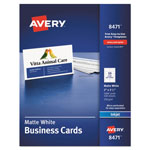 "Avery Ink Jet Business Cards, 2""x3 1/2"", White, 10 Cards/Sheet, 1000 Cards per Pack"