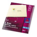 Avery Ink Jet Clear Address Labels, 2 x 4, 250 per Pack
