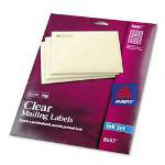 Avery Ink Jet Clear Address Labels, 1/2 x 1 3/4, 2000 per Pack