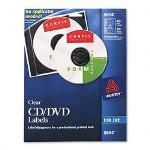 Avery CD/DVD Clear Glossy Labels for Ink Jet Printers, 40 Labels per Pack