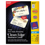Avery Clean Edge Inkjet Business Cards, Ivory, Round Edge, 2 x 3 1/2
