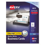 "Avery Clean Edge Business Cards for Ink Jet Printer, 2""x3 1/2"", White, 1000 per Pack"