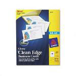 Avery Clean Edge Glossy Photo Quality Ink Jet Business Cards, 2 x 3 1/2, White, 200/Pack