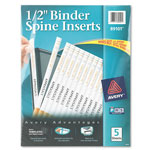 "Avery 1/2"" Binder Spine Inserts, White"