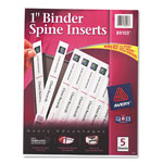 "Avery 1"" Binder Spine Inserts, White"
