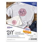 Avery Personal Creations™ Ink Jet White/Light T Shirt Transfer Sheets, 18 per Pack