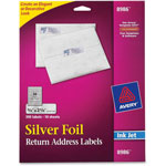 Avery Silver Foil Ink Jet Mailing Labels, 3/4 x 2 1/4, 300 per Pack