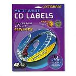 Avery Labels for use with CD Stomper Pro CD/DVD Labeling System, White Matte, 50/Pack