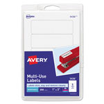 "Avery Self Adhesive White Removable Labels, Rectangular, 1""x3"", 250 per Pack"