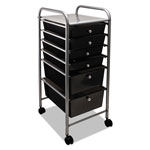 Advantus File Cart with Six Drawers, Chrome