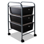 Advantus File Cart with Three Drawers, Chrome