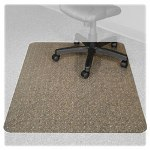 "Advantus Carpet Chairmats, Lip 25""x12"", Wide 46""x60"", Clear"