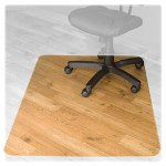 "Advantus Hard Floor Chairmat, Rectangular 46""x60"", Clear"