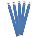 Advantus Crowd Management Wristbands, Sequentially Numbered, Blue, 100 Per Pack