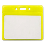 "Advantus Reflective Badge Holders, Vertical, 3 1/2"" x 2 1/2"", Yellow, 10/Pack"