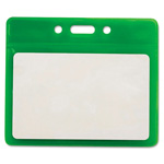 "Advantus Reflective Badge Holders, Vertical, 3 1/2"" x 2 1/2"", Green, 25/Pack"