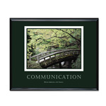 "Advantus Framed ""Communication"" Motivational Print, 30w x 24h, Black Frame"