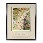 "Advantus Framed ""Challenge"" Motivational Print, 24w x 30h, Black Frame"
