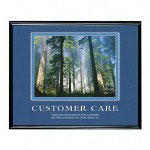 "Advantus Framed ""Customer Care"" Motivational Print, 30w x 24h, Black Frame"