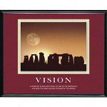 "Advantus Framed ""Vision Stonehenge"" Motivational Print, 30w x 24h, Black Frame"