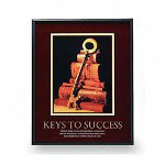 "Advantus Framed ""Keys To Success"" Motivational Print, 24w x 30h, Black Frame"