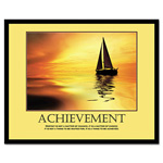 "Read Right/Advantus ""Achievemant"" Framed Motivational Print, 24w x 30h"