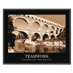 "Advantus ""Teamwork"" Framed Sepia Tone Motivational Print, 30""w x 24""h"