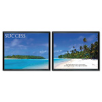 "Advantus ""Success"" Framed Motivational Print, 30""w x 24""h"