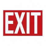 Advantus Exit Sign, 8 x 12, Red/White