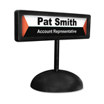 Advantus People Pointer Desktop Sign for Inkjet/Laser Printed Name Insert, Black