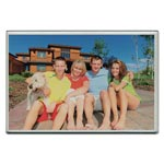 Advantus Acrylic Photo Frames, Clear, 4 x 6