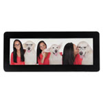 Advantus Magnetic Picture Frames, Black, 2 x 6 1/4, 4/Pack