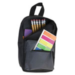 Advantus Backpack Pencil Pouch, 4 1/2 x 2 1/2 x 7 3/4, Black