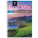 Rand McNally Large Scale Road Atlas, North America+Puerto Rico, Large Type, Soft Cover