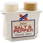 Advantus Salt/Pepper Shakers, 4 oz Salt, 1.5 oz Pepper, Beige/Off White