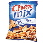 General Mills Chex Mix, Traditional Flavor Trail Mix, 3.75oz Bag, 8 Bags/Box