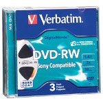 Verbatim DigitalMovie - 3 x DVD-RW (8cm) - 1.4 GB 1X - 2X - Jewel Case - Storage Media