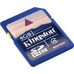 Kingston Flash Memory Card - 4 GB - Class 4 - SDHC