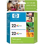 HP CC580FN#140 No. 22 Tri Color Inkjet CartridTwinpack