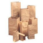 Duro GX5 5# Natural Paper Grocery Bags, Extra Heavy-Duty