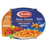 Barilla Italian Entree, Gemelli with Meat Sauce, 9 oz, Microwavable Tray, 6/Carton