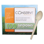 Baumgarten's Corn Starch White Plastic Spoon, Box of 100