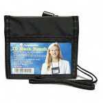 "Baumgarten's ID Neck Pouch, Horizontal, Adjustable 48"" Cord, 4"" x 2 1/4"" Black"