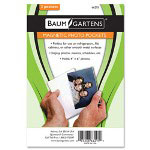 "Baumgarten's Magnetic Photo Pocket, 4""x6"", 2/PK, White"