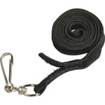 "Baumgarten's Safety Lanyard, Hook N Loop, 34"", Black"